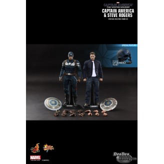 [IN STOCK] Captain America The Winter Soldier Captain America & Steve Rogers 1/6 Figure