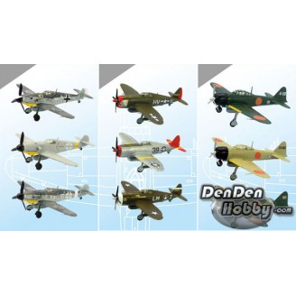 [IN STOCK] 1/144 Wing Kit Collection 11 WWII Japan/German/America Fighter Set of 10