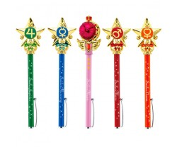 [IN STOCK] Sailor Moon Prism Stationery Indication Ball Pen Planet Attack Set