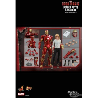 [IN STOCK] IRON MAN 3 PEPPER POTTS+MARK IX Figure Combo Set
