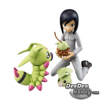 [IN STOCK] GEM Digimon Adventure 02 Ken Ichijouji+Wormmon PVC Figure Set
