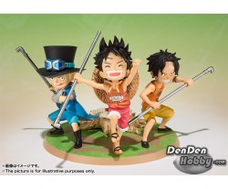 [IN STOCK] Figuarts Zero One Piece Luffy, Ace and Sabo Promise of Sworn Brother