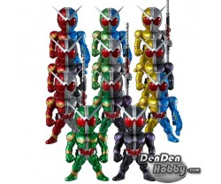 [IN STOCK] CONVERGE KAMEN RIDER W PB02 -W MAX EDITION- / PB03 -FFR W SET Set of 9