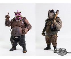 [IN STOCK] Threezero Teenage Mutant Ninja Turtles TMNT Out of the Shadows Bebop & Rocksteady set of 2