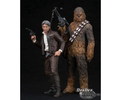 [PRE-ORDER] ARTFX+ Star Wars Han Solo & Chewbacca 2Pack Force Awakens Version