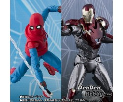 [PRE-ORDER] S.H.Figuarts Spider-Man Homecoming Home Made Suit ver. & Iron Man Mark 47